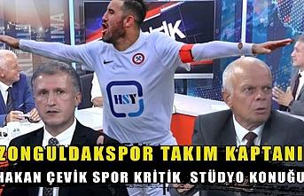 Zonguldakspor Takım Kaptanı Hakan Çevik Spor Kritik  Stüdyo konuğu