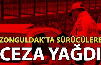 Zonguldak'ta sürücülere ceza yağdı
