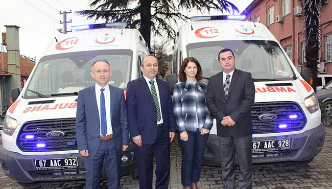 Tam donanımlı iki ambulans kazandırıldı...