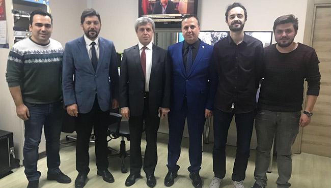 Vali Ahmet Çınar'dan Elmas TV'ye taziye ve ziyaret…