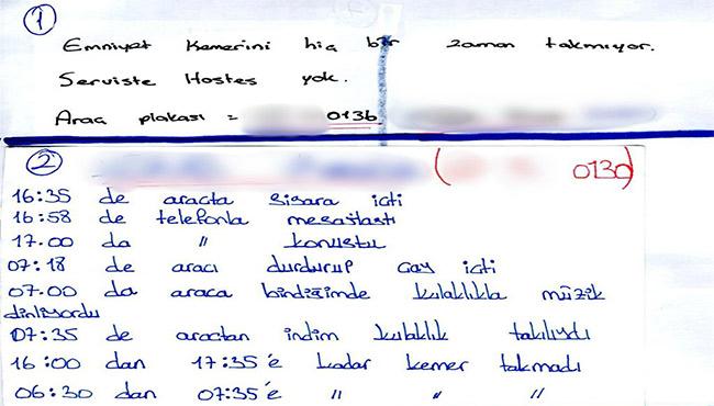 Dedektif öğrenciler, servis şoförlerinin hatalarını not aldı