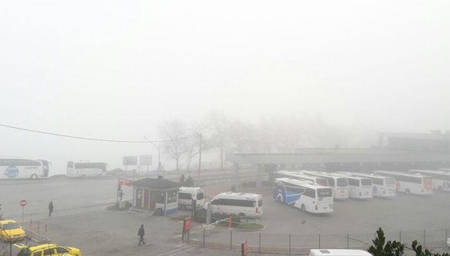 Yoğun sis, ulaşımı olumsuz etkiliyor