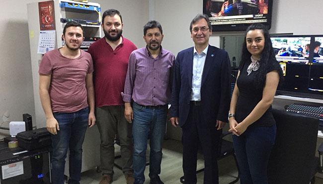 Aydın Tümen, Elmas TV'yi ziyaret etti