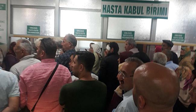 Hastanede isyan...Sosyal medya bu fotoğrafı konuşuyor