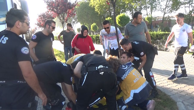Polis kaza yaptı