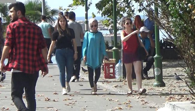 Vatandaşlar sahile akın etti