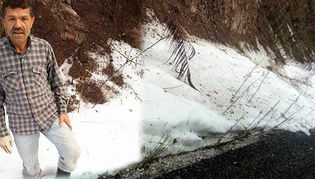 Burası Zonguldak... Mevsimin ilk karı yağdı