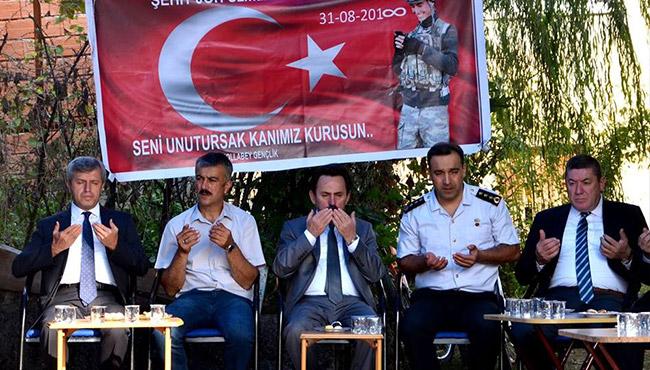 Vali Çınar, Şehit Recep Turan'ın ailesine ziyarette bulundu