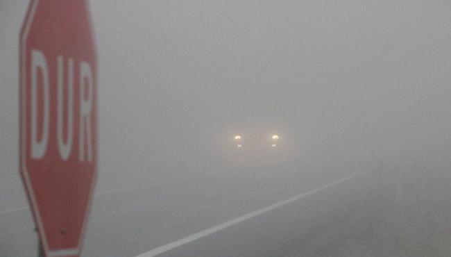 Zonguldak'ta sis etkili oldu...
