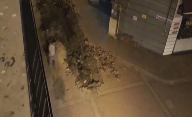 Doğalgaz borusu patladı... Kent merkezinde faciadan dönüldü