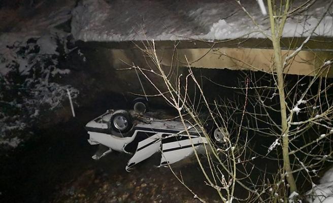Kaza... Köprüden düştü...