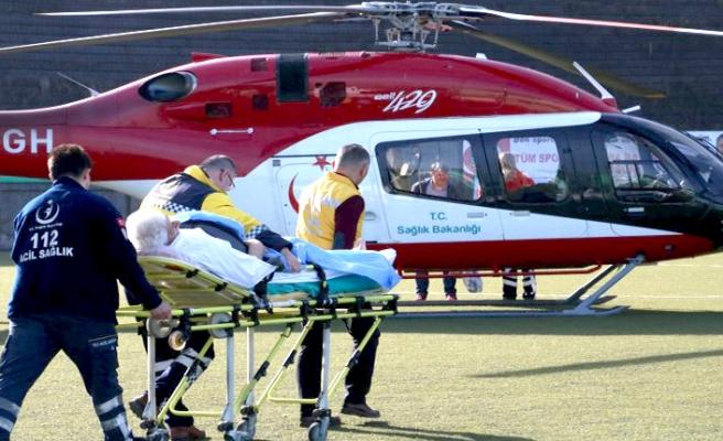 Ambulans helikopter, 72 yaşında ki hasta için havalandı...