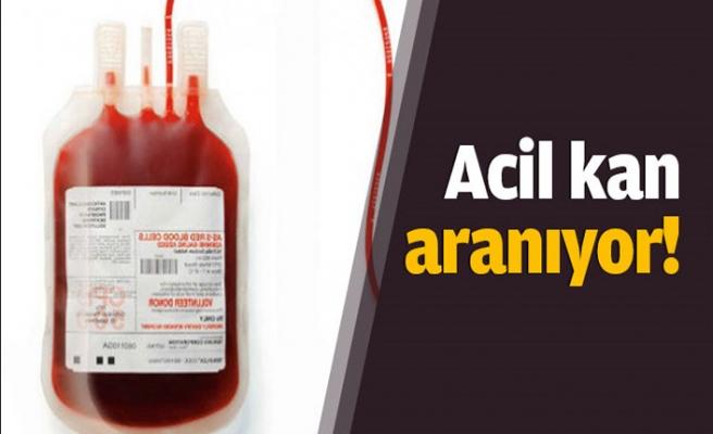 Kanser tedavisi gören çocuk için acil kan lazım!