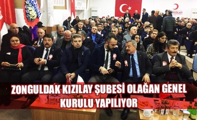 Zonguldak Kızılay Şubesi Olağan Genel Kurulu yapılıyor
