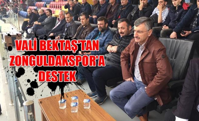 Vali Bektaş'tan Zonguldakspor'a destek