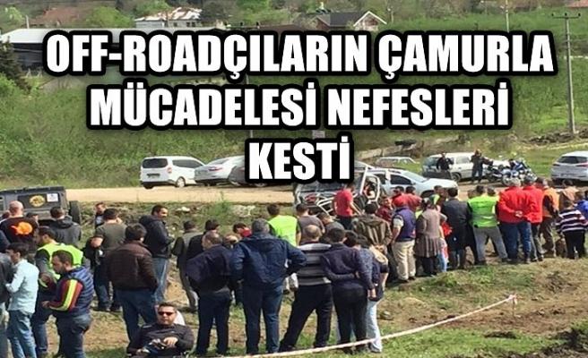 Off-Roadçıların çamurla mücadelesi nefesleri kesti!