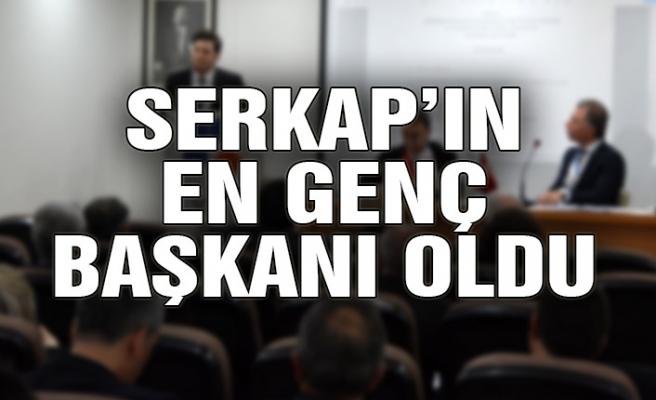SERKAP'ın en genç başkanı oldu
