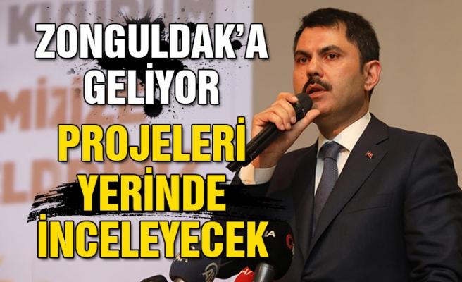 Zonguldak'a geliyor... Projeleri yerinde inceleyecek...