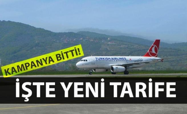 Zonguldak – İstanbul uçuşlarında yeni bilet ücreti!
