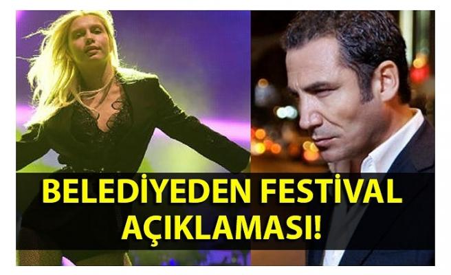 Belediyeden festival açıklaması!