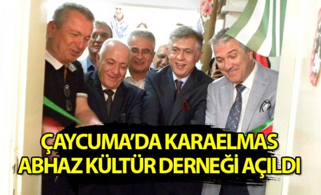 Çaycuma'da Karaelmas Abhaz Kültür Derneği'nin açılışı yapıldı