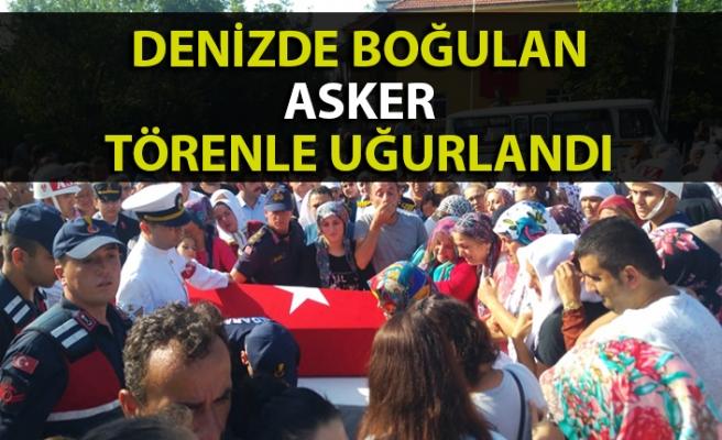 Denizde boğulan Ereğli'li asker törenle uğurlandı
