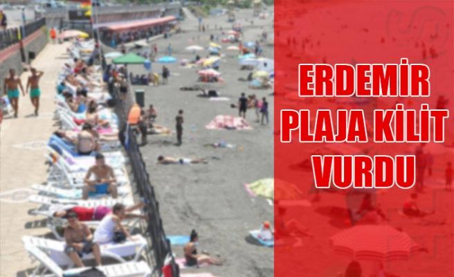 Erdemir plaja kilit vurdu