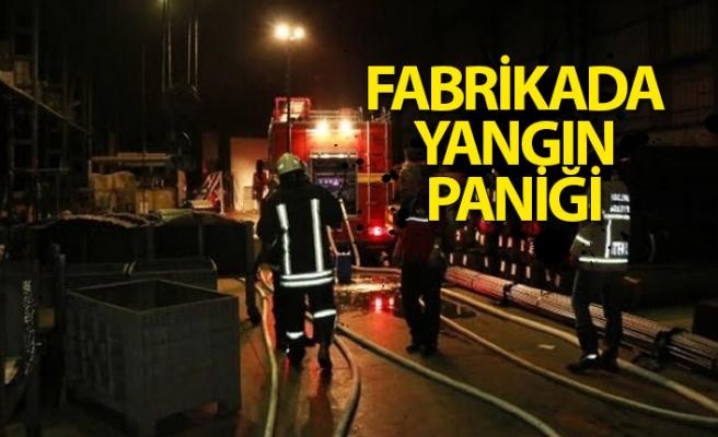 Ereğli'deki fabrikada yangın paniği