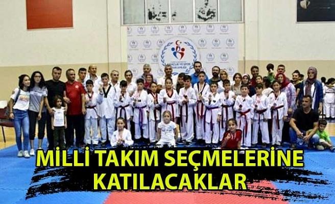 Kdz. Ereğli'de 6 Taekwondocu milli takım seçmelerine katılacak...