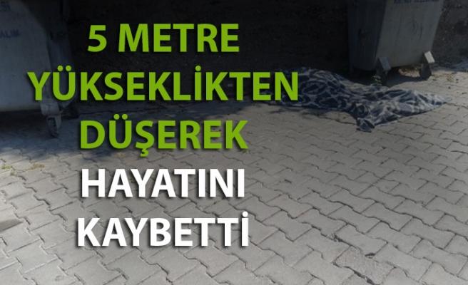 Zonguldak'ta bir kişi 5 metre yükseklikten düşerek hayatını kaybetti