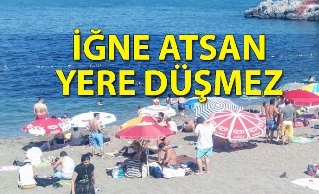Zonguldak'ta  halk Kapuz Plajı'na akın etti