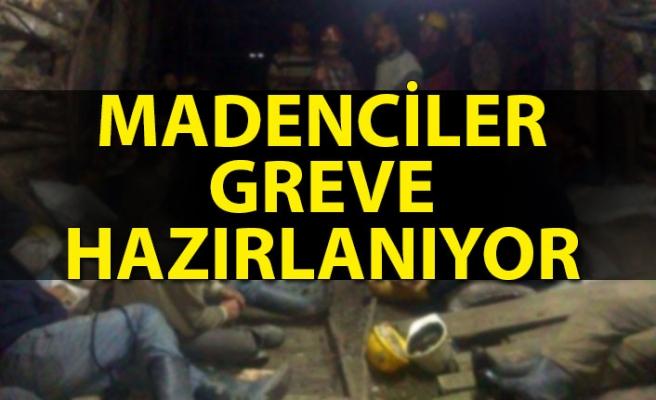 Zonguldak'ta madenciler greve hazırlanıyor