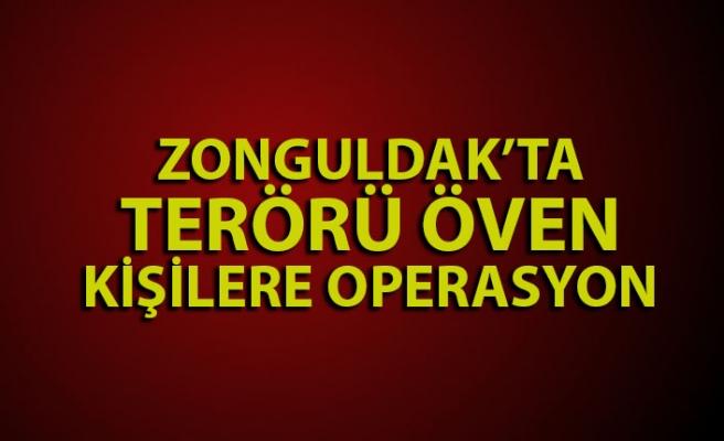 Zonguldak'ta terör propagandası operasyonu