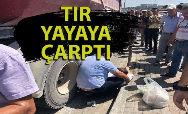 Zonguldak'ta tır yayaya çarptı: 1 yaralı var