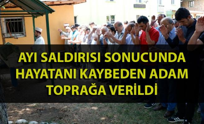 Zonguldak'ta ayı saldırısı sonucu hayatını kaybeden adam toprağa verildi