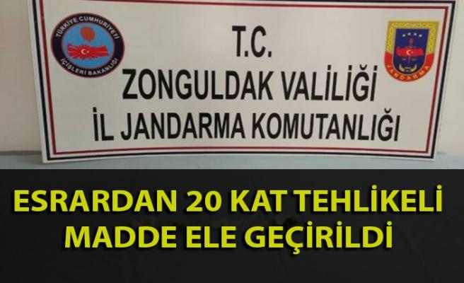 Zonguldak'ta tehlikeli uyuşturucu maddesi ele geçirildi