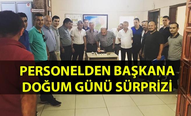 Belediye başkanına doğum günü sürprizi