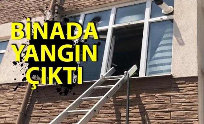 Binada yangın çıktı