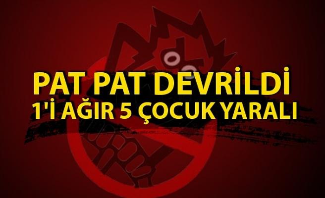 Düzce'de Pat Pat Devrildi Açıklaması 1'İ Ağır 5 Çocuk Yaralı