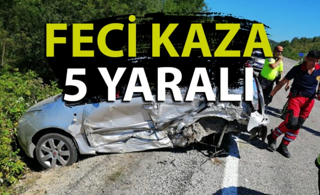 Feci kaza: 5 kişi yaralandı!