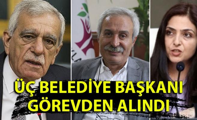 İçişleri Bakanlığı: Diyarbakır, Mardin ve Van Belediye Başkanları görevden alındı