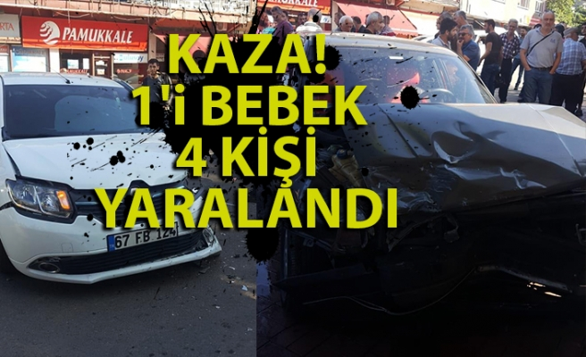 Kilimli'de kaza: 1'i bebek, 4 yaralı!