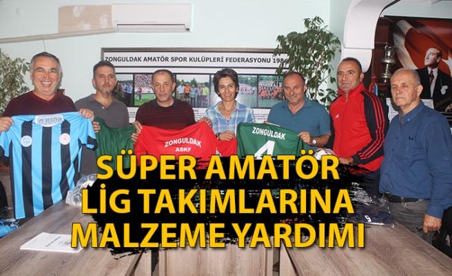 12 Süper Amatör Lig takımına malzeme yardımı yapıldı