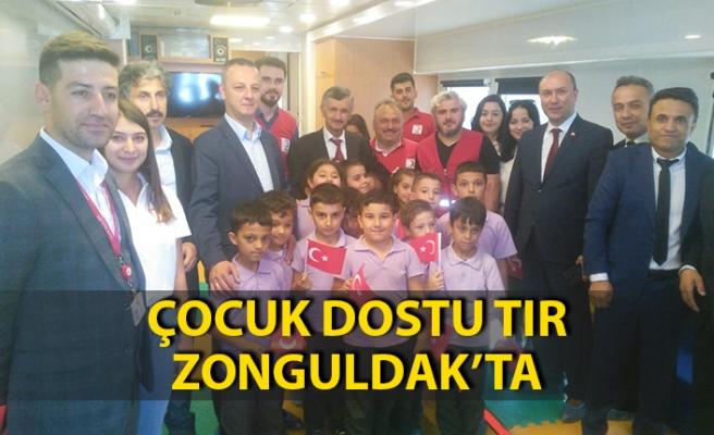 Çocuk dostu tır Zonguldak'ta