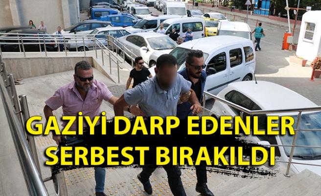 Gaziyi darp edenler serbest bırakıldı