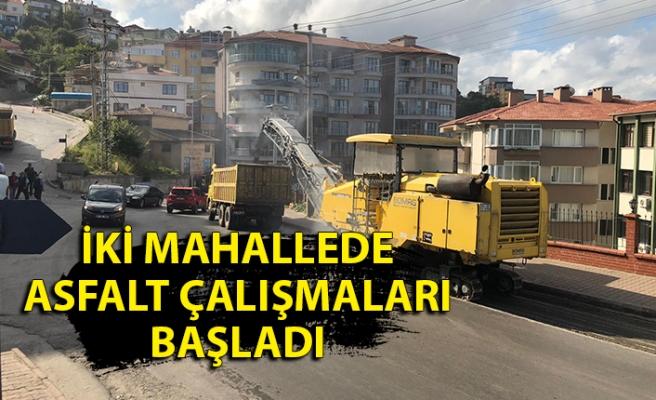 İki mahallede asfalt çalışmaları başladı; sürücüler, dikkat!