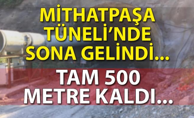Mithatpaşa Tüneli'nde sona gelindi... Tam 500 metre kaldı...