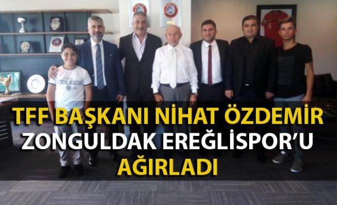 Zonguldak Ereğlispor TFF Başkanı Nihat Özdemir'in konuğu oldu