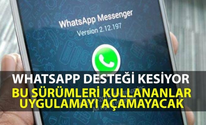 WhatsApp bu sürümlerin kullanıldığı telefonlardan desteği kesiyor