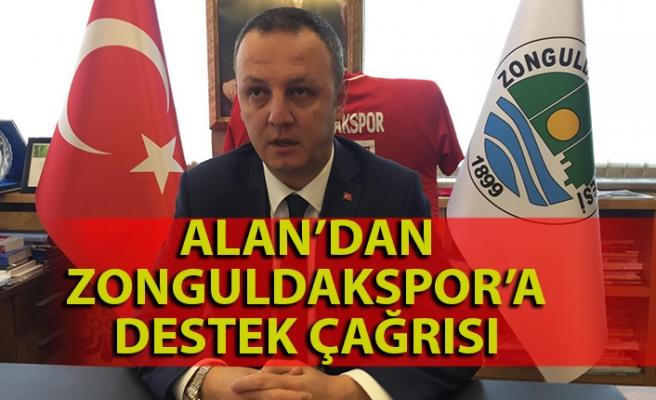 Alan'dan Zonguldakspor'a destek çağrısı
